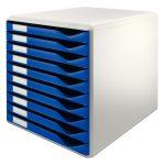 LEITZ STANDARD 10 fiókos irattároló 52810035 kék