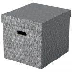 Home tárolódoboz kocka alakú szürke 3db 628289
