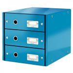 CLICK&STORE 3-fiókos irattároló 60480036 kék PROMO