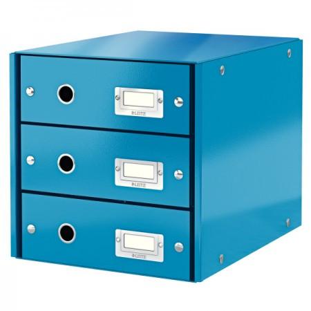 CLICK&STORE 3-fiókos irattároló 60480036 kék