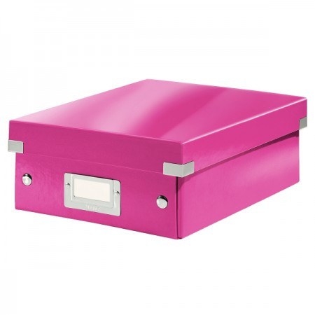 CLICK&STORE rendszerező doboz S 60570023 rózsaszín