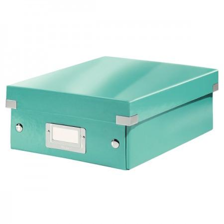 CLICK&STORE rendszerező doboz S 60570051 jégkék