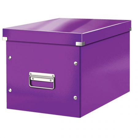 CLICK&STORE kocka doboz L méret lila 61080062