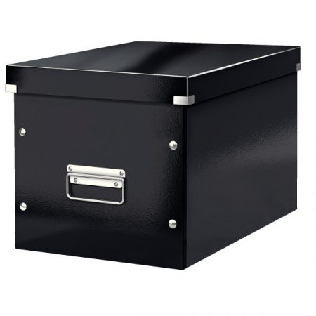 CLICK&STORE kocka doboz L méret feket 61080095
