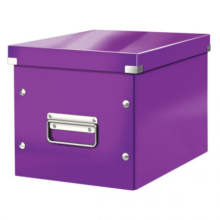 CLICK&STORE kocka doboz M méret lila 61090062