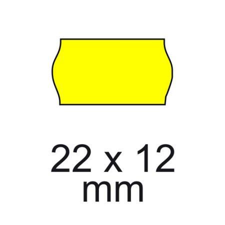 Árazó cimke 22*12mm SÁRGA